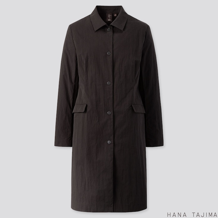 WOMEN COAT (HANA TAJIMA), BLACK, large