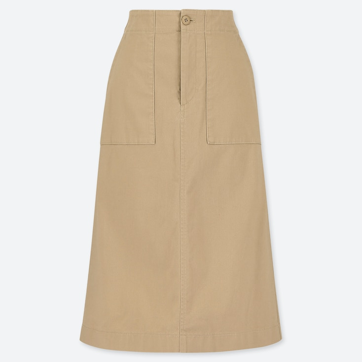 WOMEN BAKER SKIRT, BEIGE, large