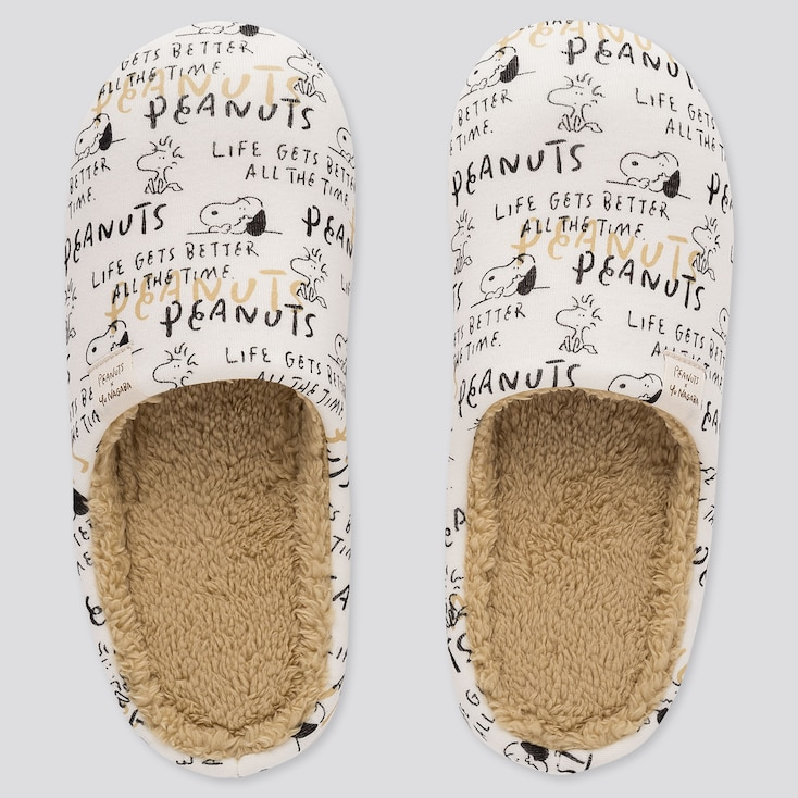 Peanuts Yu Nagaba Slippers, Off White, Large