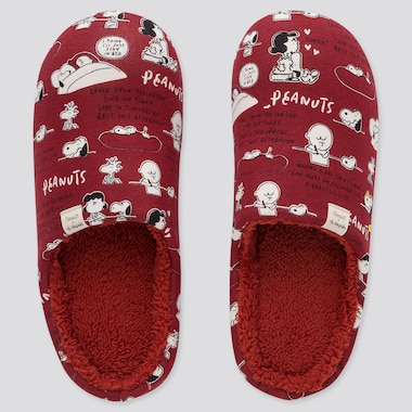 PEANUTS YU NAGABA SLIPPERS, RED, medium