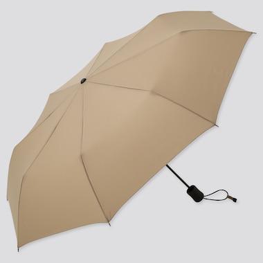 Compact Umbrella, Beige, Medium