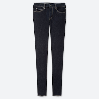 "WOMEN ULTRA STRETCH JEANS (TALL 34"") (ONLINE EXCLUSIVE), NAVY, medium"