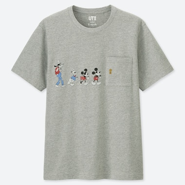 MICKEY ART UT YU NAGABA (SHORT-SLEEVE GRAPHIC T-SHIRT), GRAY, medium