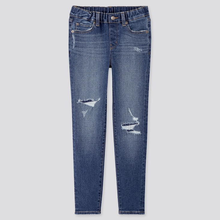 KIDS ULTRA STRETCH DENIM SLIM-FIT PANTS, BLUE, large