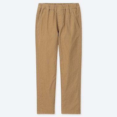 Kids Stretch Warm-Lined Pants, Beige, Medium