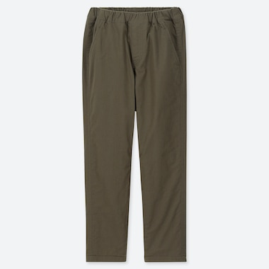 KIDS STRETCH WARM-LINED PANTS, OLIVE, medium