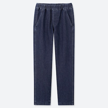 Kids Stretch Warm-Lined Pants, Blue, Medium