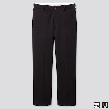 MEN U JERSEY WIDE-FIT STRAIGHT PANTS, DARK GRAY, medium