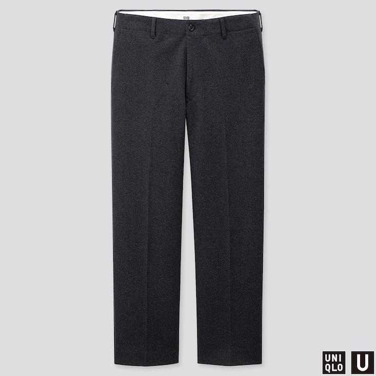 MEN U JERSEY WIDE-FIT STRAIGHT PANTS, BLUE, large