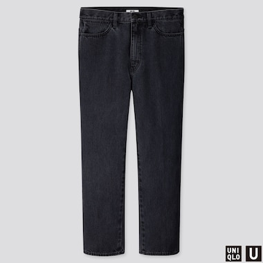 MEN U STRAIGHT JEANS, DARK GRAY, medium