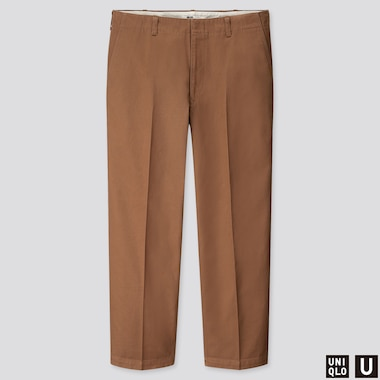 MEN U WIDE-FIT STRAIGHT-LEG PANTS, BEIGE, medium