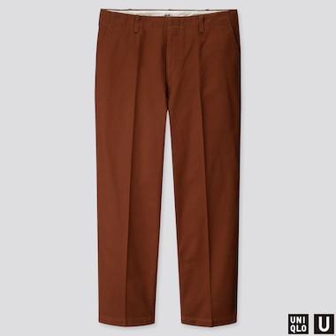 Men U Wide-Fit Straight-Leg Pants, Brown, Medium