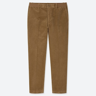 Men Ezy Corduroy Ankle-Length Pants, Beige, Medium