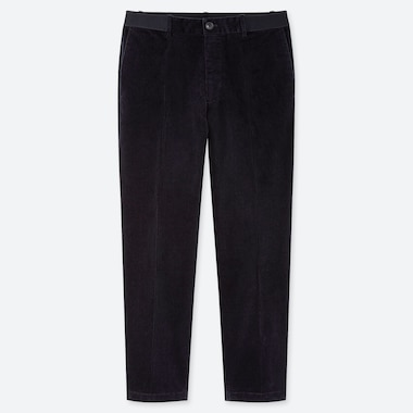 MEN EZY CORDUROY ANKLE-LENGTH PANTS, NAVY, medium