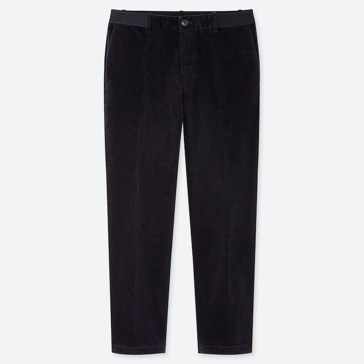 MEN EZY CORDUROY ANKLE-LENGTH PANTS, NAVY, large