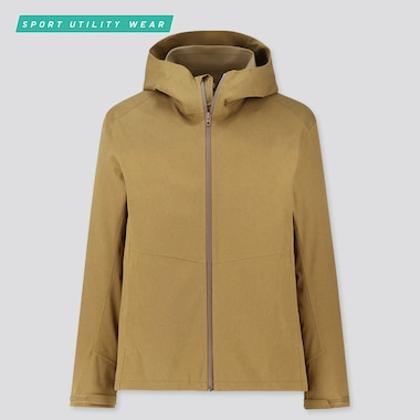 Men Blocktech Parka, Brown, Medium