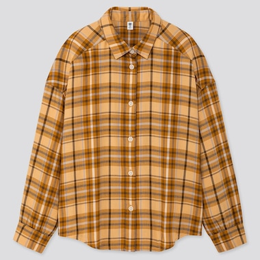 GIRLS FLANNEL CHECKED LONG SLEEVED SHIRT