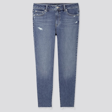 WOMEN MID-RISE RELAXED TAPERED ANKLE JEANS (ONLINE EXCLUSIVE), BLUE, medium