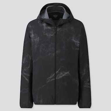 MEN POCKETABLE PETER SAVILLE PATTERNED PARKA, BLACK, medium