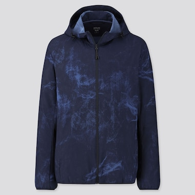 MEN POCKETABLE PETER SAVILLE PATTERNED PARKA, BLUE, medium
