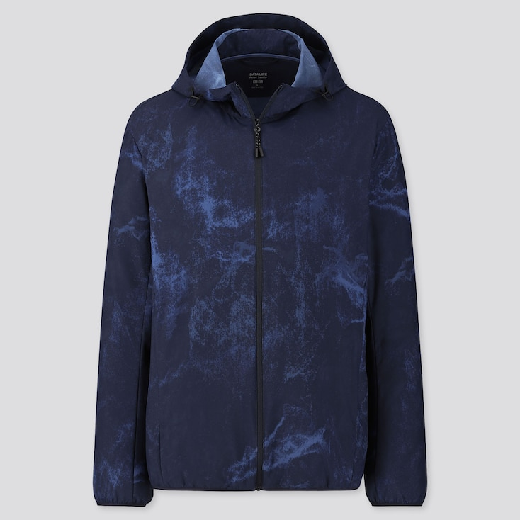 MEN POCKETABLE PETER SAVILLE PATTERNED PARKA, BLUE, large