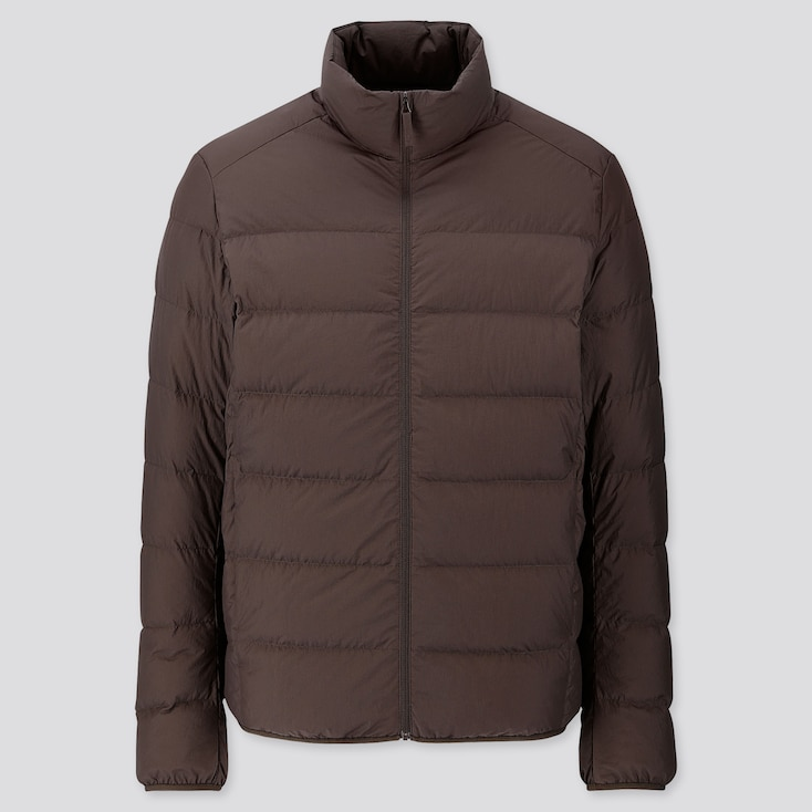 MEN ULTRA LIGHT DOWN WIDE QUILT JACKET, DARK BROWN, large