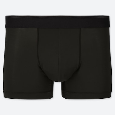 MEN AIRism LOW-RISE BOXER BRIEFS, BLACK, medium