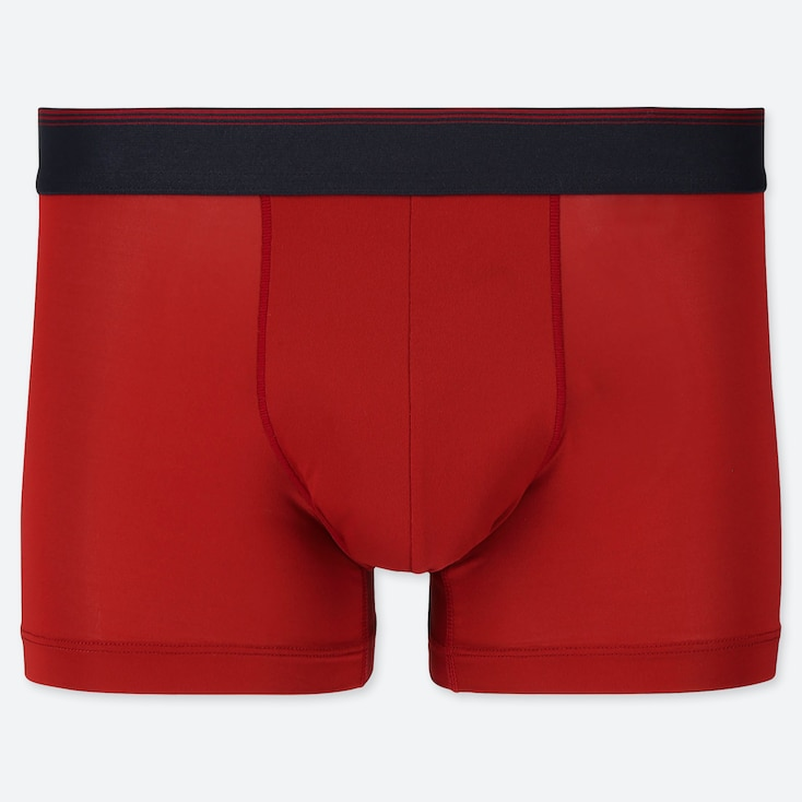 MEN AIRism LOW-RISE BOXER BRIEFS, RED, large