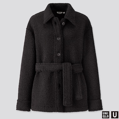 WOMEN UNIQLO U FLEECE LINED SHORT COAT