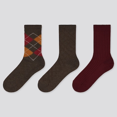 WOMEN ARGYLE PRINT SOCKS (THREE PAIRS)