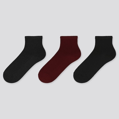 WOMEN REGULAR RIBBED SOCKS (THREE PAIRS)