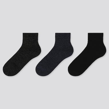 WOMEN CREW GLITTER SOCKS (3 PAIRS), BLACK, medium