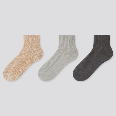 WOMEN REGULAR SLUB SOCKS (THREE PAIRS)