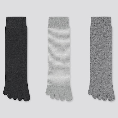 WOMEN TOE SOCKS (3 PAIRS) (ONLINE EXCLUSIVE), DARK GRAY, medium