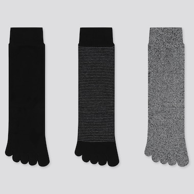 WOMEN TOE SOCKS (3 PAIRS) (ONLINE EXCLUSIVE), BLACK, medium