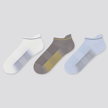 WOMEN SPORT SHORT SOCKS (3 PAIRS), OFF WHITE, medium