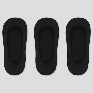 Women Sheer Footsies (3 Pairs), Black, Medium