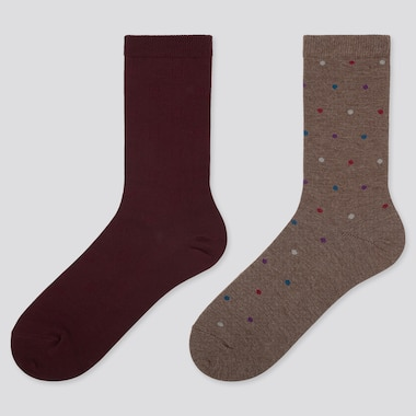WOMEN HEATTECH DOTTED SOCKS (TWO PAIRS)