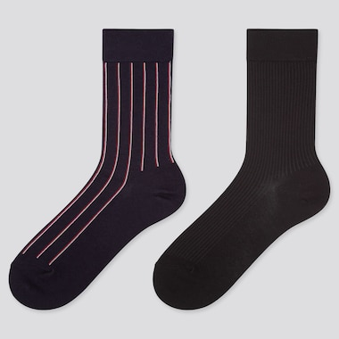 WOMEN HEATTECH STRIPED SOCKS (TWO PAIRS)