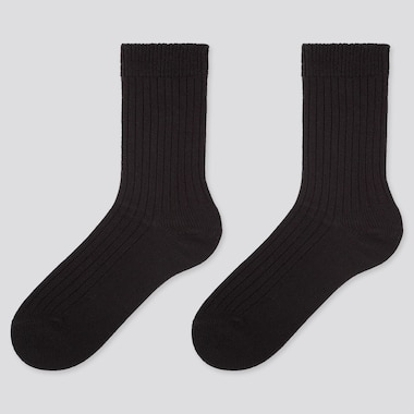 WOMEN HEATTECH RIBBED SOCKS (TWO PAIRS)