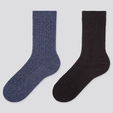 WOMEN HEATTECH CABLE KNIT SOCKS (TWO PAIRS)