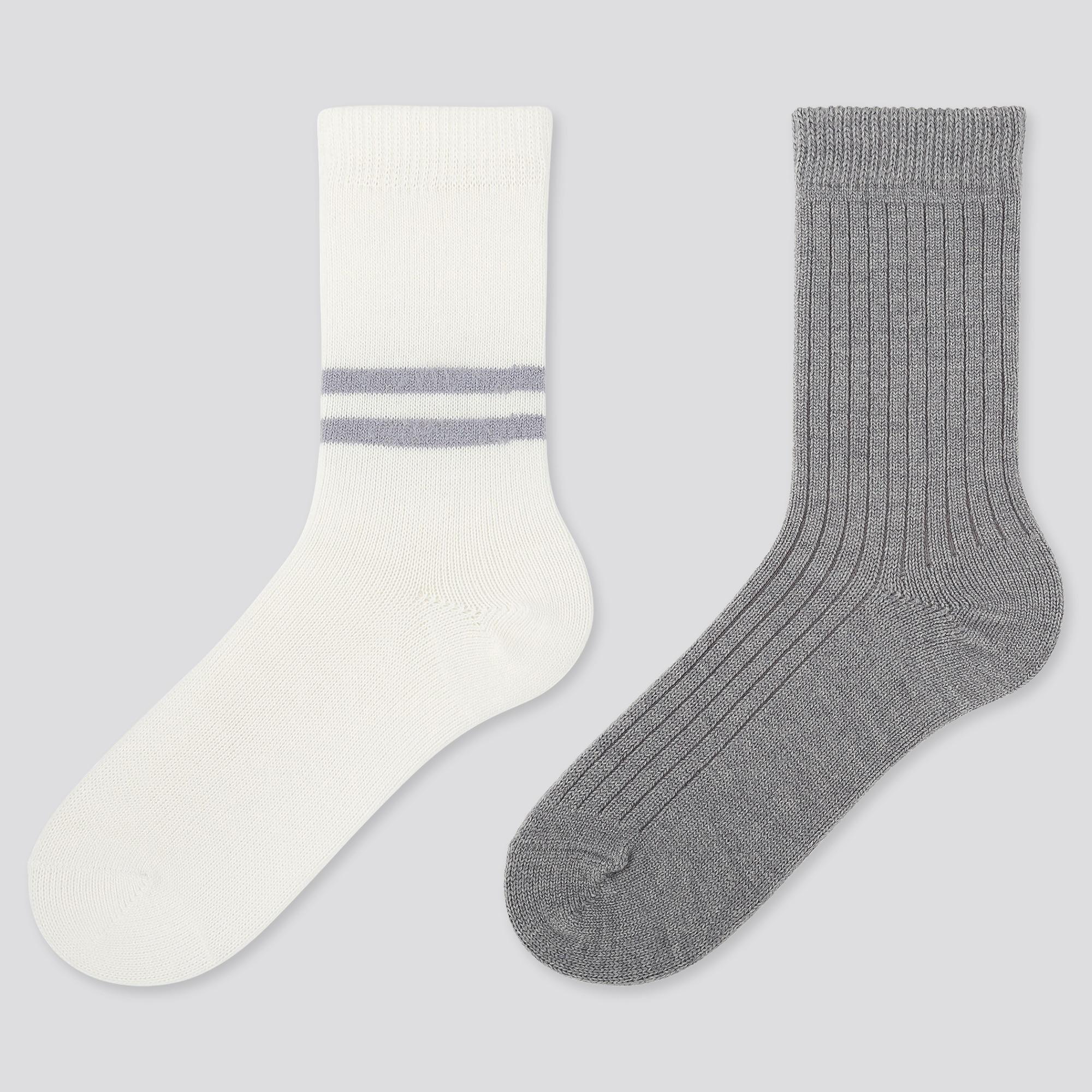 women-heattech-line-socks-(2-pairs) by uniqlo