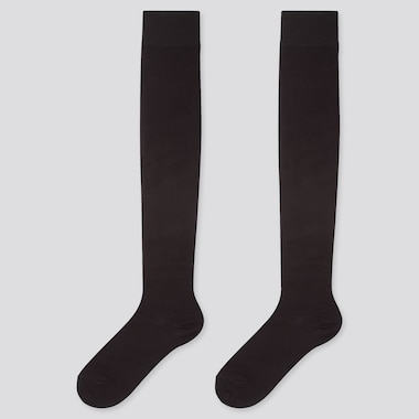 WOMEN HEATTECH OVER-THE-KNEE SOCKS (2 PAIRS), BLACK, medium
