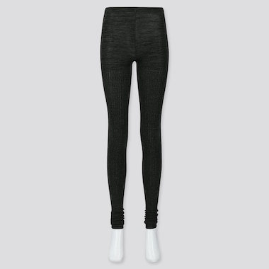 WOMEN HEATTECH KNITTED EXTRA LONG LEGGINGS