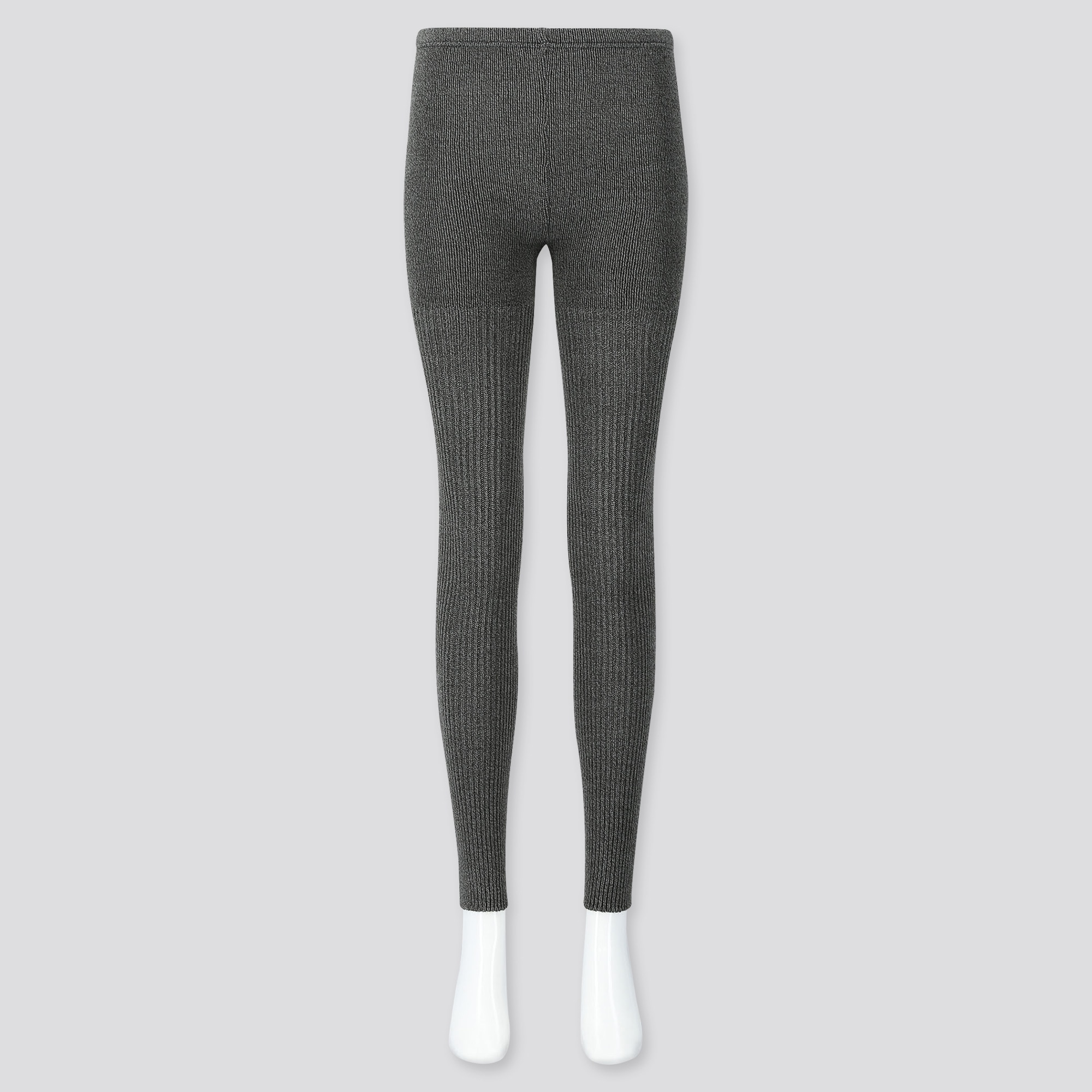 shop for genuine wide selection of colours and designs marketable WOMEN HEATTECH RIBBED KNIT LEGGINGS