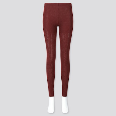 WOMEN HEATTECH CABLE KNIT LEGGINGS