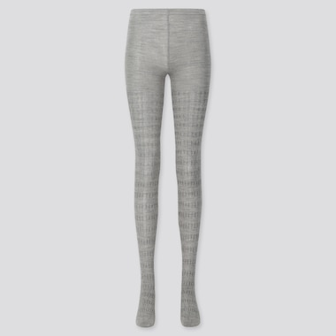 WOMEN HEATTECH CABLE KNIT TIGHTS