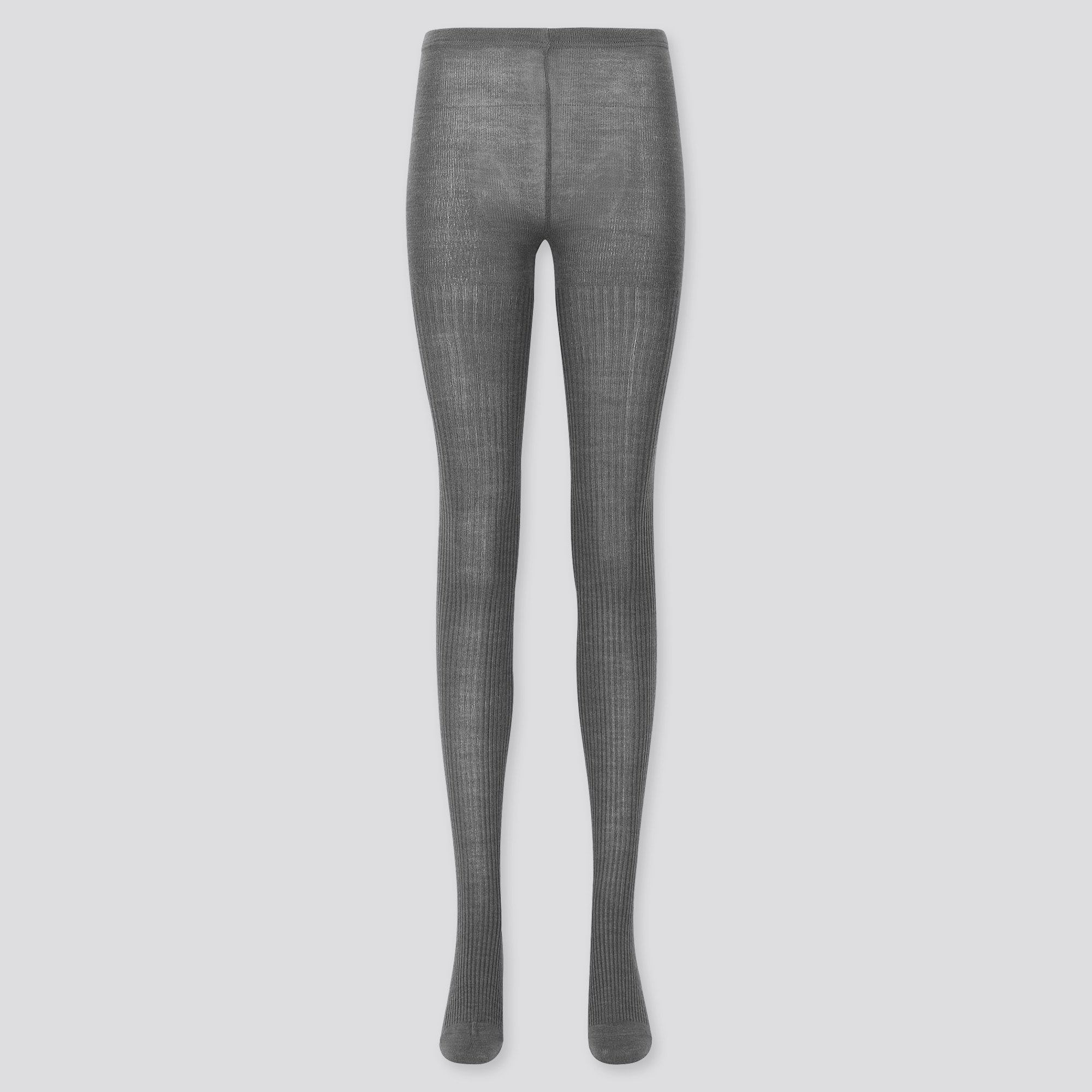 WOMEN HEATTECH RIBBED KNITTED TIGHTS