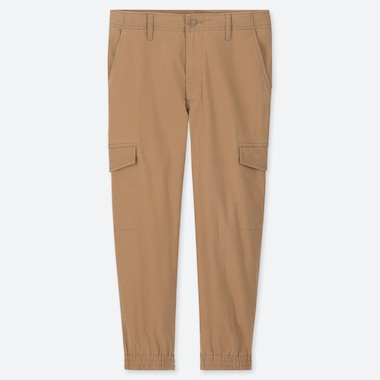 MEN EZY JOGGER CARGO PANTS, KHAKI, medium