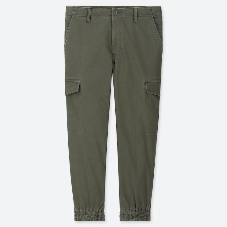 MEN EZY JOGGER CARGO PANTS, DARK GREEN, large